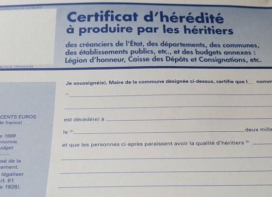 Certificat-dhérédité