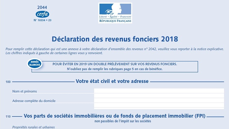 declaration revenu fonciers