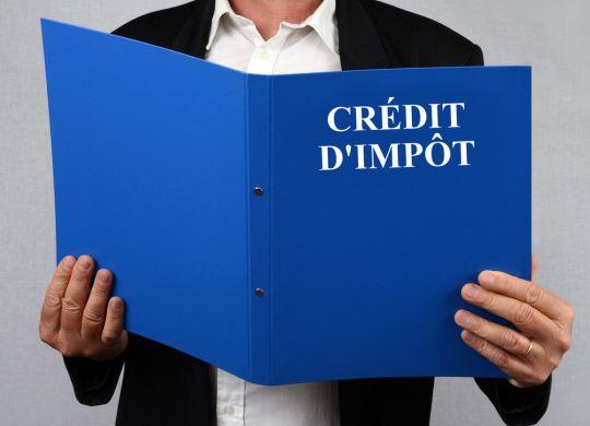 Homme consultant le dossier crédit d'impôt