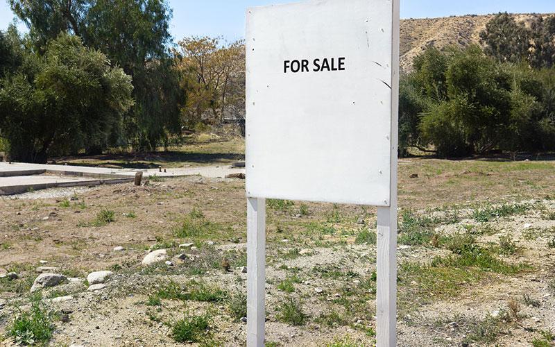 terrain non utilisé à vendre