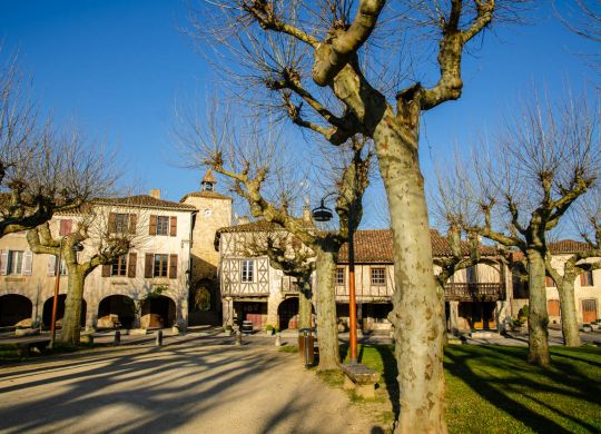 Fources is an original round Bastide in the Department of Gers, France