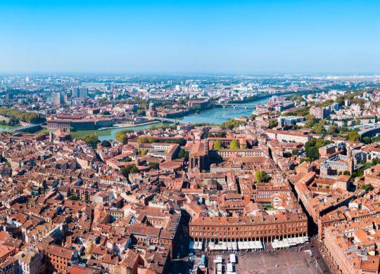 vue panoramique sur la ville de Toulouse